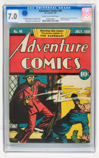 Adventure Comics #40 (DC, 1939) CGC FN/VF 7.0 Cream to off-white pages