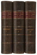 Books:First Editions, [Henry R. Schoolcraft, LL.D., editor]. Information, Respectingthe History, Condition and Prospects of the Indian Tribes...(Total: 6 Items)