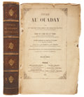 Books:Non-fiction, Cheihk Mohammed Ibn-Omar el Tounsy. Voyage au Ouaday. Paris:Chez Benjamin Duprat, 1851. First edition in French. Oc... (Total:2 Items)