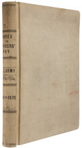 """Military & Patriotic:Civil War, Officers Pay Book Ledger for the Year 1841-1870 Including Civil War Generals. 334pp. 15.5"""" x 12.5"""". Book reads """"Index to Off..."""