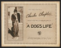 "Movie Posters:Comedy, A Dog's Life (First National, 1918). Title Lobby Card (11"" X 14"").Comedy.. ..."