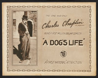 """A Dog's Life (First National, 1918). Title Lobby Card (11"""" X 14""""). Comedy"""