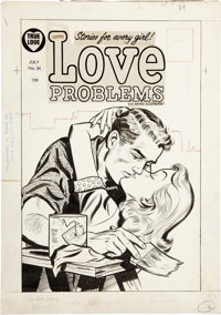 Love Problems and Advice Illustrated #34 Cover Original Art (Harvey, 1955)