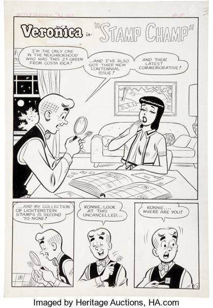 Original Comic ArtComplete Story Betty And Veronica 82 Complete 3 Page