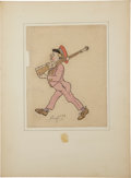 Original Comic Art:Illustrations, Alberto Vargas Soldier with Gun Caricature Original Art (1908)....