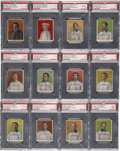 Baseball Cards:Sets, 1910 D322 Tip-Top Bread Pittsburgh Pirates PSA-Graded Near Set(22/25)....