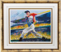 Autographs:Others, 1998 Joe DiMaggio Signed Limited Edition Artist's Proof Print by Neiman....