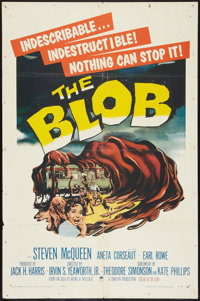 """The Blob (Paramount, 1958). One Sheet (27"""" X 41""""). Science Fiction"""