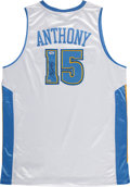 Basketball Collectibles:Uniforms, Carmelo Anthony Signed Jersey....