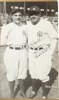 "Autographs:Photos, 1942 Babe Ruth Signed Photograph to Fellow ""The Pride of the Yankees"" Cast Member...."