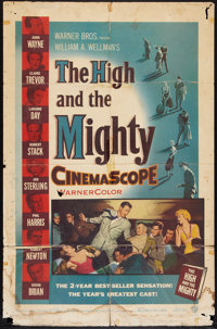"""The High and the Mighty (Warner Brothers, 1954). One Sheet (27"""" X 41""""). Adventure"""