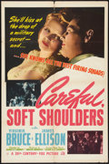 "Movie Posters:Action, Careful, Soft Shoulders (20th Century Fox, 1942). One Sheet (27"" X41""). Action.. ..."