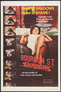 "Movie Posters:Action, Bourbon Street Shadows (Manson Distributing, 1962). One Sheet (27""X 41""). Action.. ..."