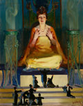 Paintings, WALTER DEAN GOLDBECK (American, 1882-1925). Idol Worship, Judge magazine cover, May 8, 1915. Oil on canvas. 27.75 x 21.7...