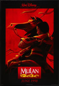 """Movie Posters:Animated, Mulan (Buena Vista, 1998). One Sheets (2) (27"""" X 41"""") DS Advancesand Decal (27.25"""" X 40""""). Animated.. ... (Total: 3 Items)"""