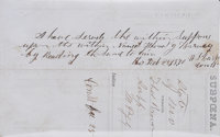 Constable Wyatt Earp Autograph Endorsement Signed on a February 1870 Lamar, Missouri Subpoena Document. Two pages (on