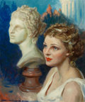 Mainstream Illustration, JAMES MONTGOMERY FLAGG (American, 1877-1960). Venus. Oil oncanvas. 23.5 x 19.5 in.. Signed lower left. ...