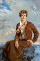 HOWARD CHANDLER CHRISTY (American, 1872-1952) Amelia Earhart, Town and Country cover, February 1, 1933 Oil on canvas