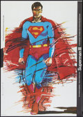 """Movie Posters:Action, Superman III (Warner Brothers, 1983). Polish One Sheet (25.75"""" X37""""). Action.. ..."""