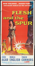 """Movie Posters:Western, Flesh and the Spur (American International, 1957). Three Sheet (41"""" X 81""""). Western.. ..."""
