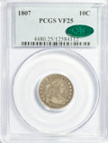Early Dimes, 1807 10C VF25 PCGS. CAC....