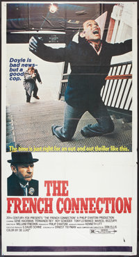 """The French Connection (20th Century Fox, 1971). Three Sheet (41"""" X 81""""). Action"""