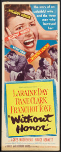 """Movie Posters:Drama, Without Honor (United Artists, 1949). Inserts (2) (14"""" X 36"""") and Partial Three Sheet (41"""" X 54""""). Drama.. ... (Total: 3 Items)"""