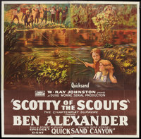 """Scotty of the Scouts (Rayart Pictures, 1926). Six Sheet (81"""" X 81"""") Chapter 8 --""""Quick Sand Canyon.""""..."""