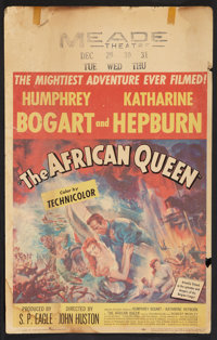 """The African Queen (United Artists, 1952). Window Card (14"""" X 22""""). Adventure"""