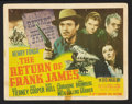 """Movie Posters:Western, The Return of Frank James (20th Century Fox, 1940). Title Lobby Card (11"""" X 14""""). Western.. ..."""