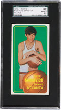Basketball Cards:Singles (1970-1979), 1970-71 Topps Pete Maravich #123 SGC 92 NM/MT+ 8.5....