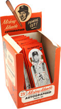 "Baseball Collectibles:Others, 1959 Mickey Mantle ""Autographed Pencil Set"" Display with NinePackets Included...."
