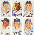 Autographs:Post Cards, 1980's-90's Perez Steele Hall of Fame Postcards Full Set Signed by 68....