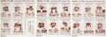 Football Cards:Sets, 1961 National Bank Cleveland Browns Uncut Sheets Trio (3). ...