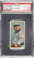 "Baseball Cards:Singles (Pre-1930), 1909-11 T206 Cy Young-Glove ""Fac. 42 Overprint"" PSA VG-EX+ 4.5...."