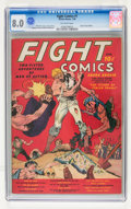 Golden Age (1938-1955):Miscellaneous, Fight Comics #1 (Fiction House, 1940) CGC VF 8.0 Off-white pages....