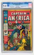 Golden Age (1938-1955):Superhero, Captain America Comics #14 (Timely, 1942) CGC VF/NM 9.0 Off-white pages....