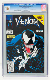 Venom: Lethal Protector #1 Black Cover/Printing Error Variant (Marvel, 1993) CGC MT 10.0 White pages