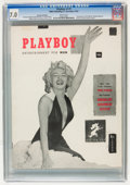 Magazines:Miscellaneous, Playboy #1 Newsstand Edition (HMH Publishing, 1953) CGC FN/VF 7.0White pages....