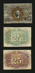 Fractional Currency:Second Issue, Fr. 1283SP 25¢ Second Issue Narrow Margin Set of Three About New.... (Total: 3 notes)
