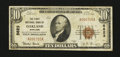 National Bank Notes:Maryland, Oakland, MD - $10 1929 Ty. 1 The First NB Ch. # 5623. ...
