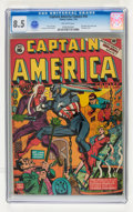 Golden Age (1938-1955):Superhero, Captain America Comics #16 (Timely, 1942) CGC VF+ 8.5 Off-white pages....