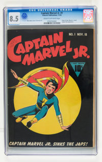 Captain Marvel Jr. #1 (Fawcett, 1942) CGC VF+ 8.5 Cream to off-white pages