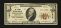 National Bank Notes:Pennsylvania, Hooversville, PA - $10 1929 Ty. 1 The Citizens NB Ch. # 11413. ...