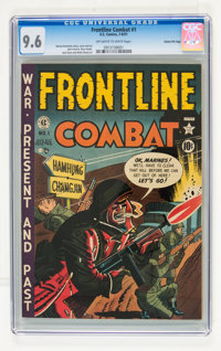 Frontline Combat #1 Gaines File pedigree 2/9 (EC, 1951) CGC NM+ 9.6 Off-white to white pages
