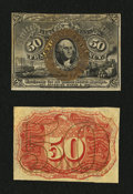 Fractional Currency:Second Issue, Fr. 1314SP 50¢ Second Issue Narrow Margin Pair About New.... (Total: 2 notes)
