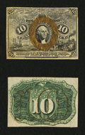 Fractional Currency:Second Issue, Fr. 1244SP 10¢ Second Issue Narrow Margin Pair Choice New.... (Total: 2 notes)