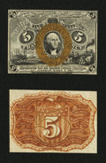 Fractional Currency:Second Issue, Fr. 1232SP 5¢ Second Issue Narrow Margin Pair Very Choice New.... (Total: 2 notes)