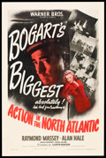 "Movie Posters:War, Action in the North Atlantic (Warner Brothers, 1943). One Sheet(27"" X 41""). War.. ..."