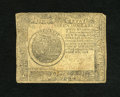 Colonial Notes:Continental Congress Issues, Continental Currency September 26, 1778 $7 Fine. This note showseven wear and fading of the penmanship....